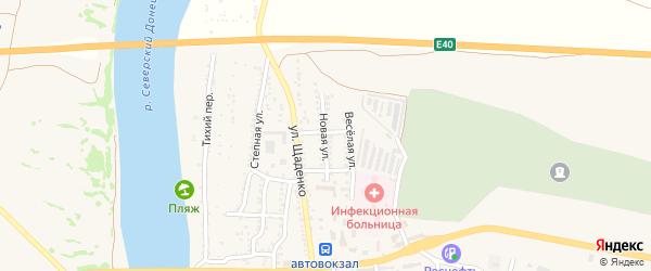 Новая улица на карте Белой Калитвы с номерами домов