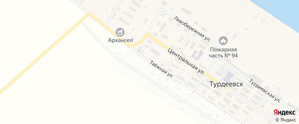 Таежная улица на карте Архангельска с номерами домов