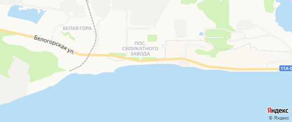 ГСК Силикат на карте улицы Силикатчиков с номерами домов