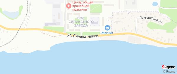 Улица Силикатчиков на карте Архангельска с номерами домов