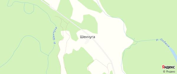 Карта поселка Шенчуги в Архангельской области с улицами и номерами домов
