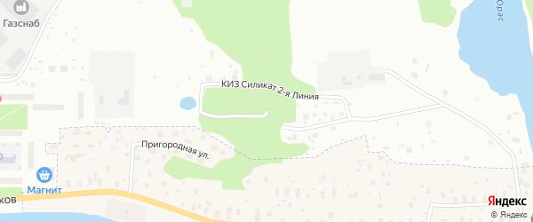 1-я линия на карте населенного пункта КИЗА Силиката с номерами домов