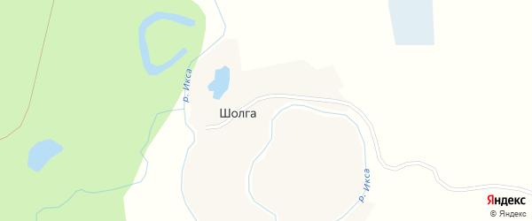 Лесная улица на карте деревни Шолги с номерами домов