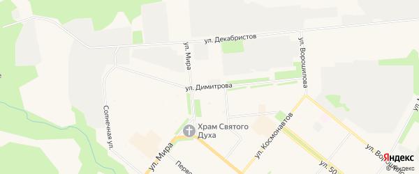 ГСК Север на карте улицы Димитрова с номерами домов