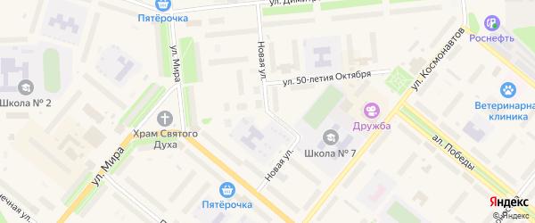 Новая улица на карте населенного пункта СНТ Маяка с номерами домов