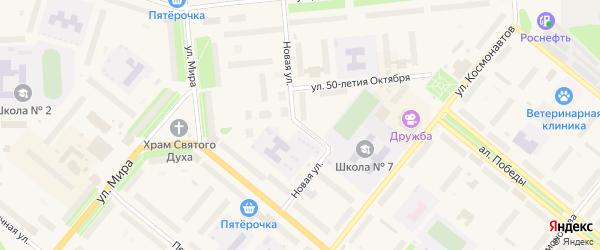 Новая улица на карте Новодвинска с номерами домов