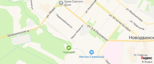 ГСК Атлантида на карте Мало-Новой улицы с номерами домов
