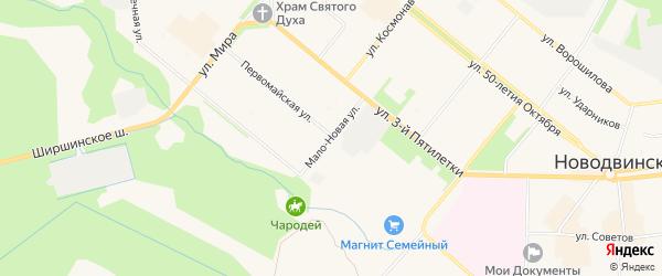 ГСК Газовик на карте Мало-Новой улицы с номерами домов