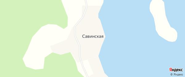 Савинская улица на карте Савинской деревни с номерами домов