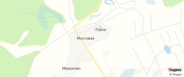 Карта Мостовой деревни в Архангельской области с улицами и номерами домов