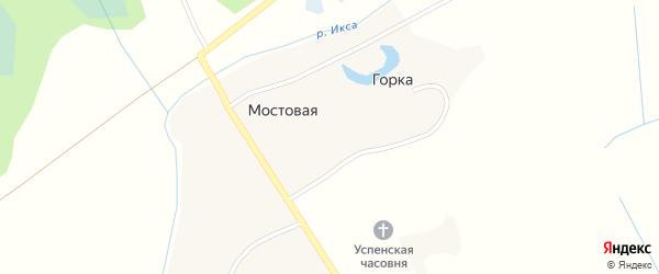 Мостовая улица на карте Мостовой деревни с номерами домов