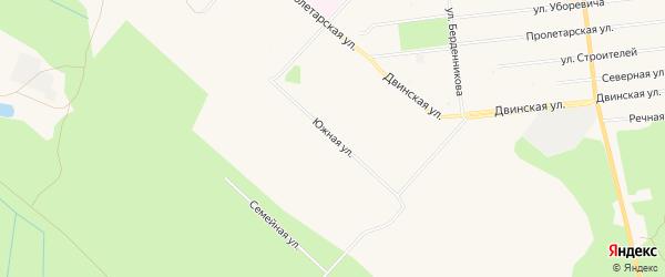 ГСК Оптимист на карте Южной улицы с номерами домов