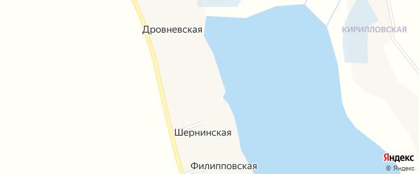 Шернинская улица на карте Шернинской деревни с номерами домов