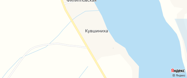 Каменная улица на карте деревни Кувшинихи с номерами домов