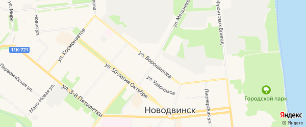 ГСК Техника на карте улицы Ворошилова с номерами домов