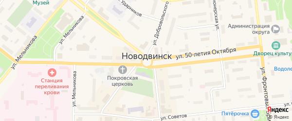 Малиновая улица на карте населенного пункта СНТ Зори Севера с номерами домов