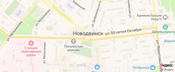 Земляничная улица на карте населенного пункта СНТ Маяка с номерами домов