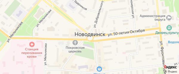 Улица 6-я Линия на карте населенного пункта СНТ Березки с номерами домов