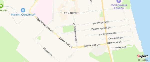 ГСК Орион на карте Пролетарской улицы с номерами домов