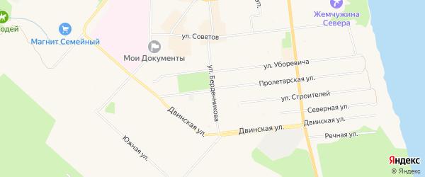 ГСК Рица на карте Пролетарской улицы с номерами домов