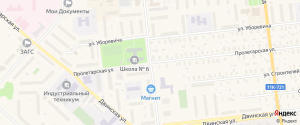 Пролетарская улица на карте Новодвинска с номерами домов
