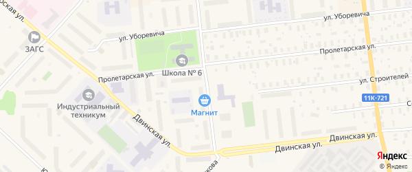 Улица Берденникова на карте Новодвинска с номерами домов