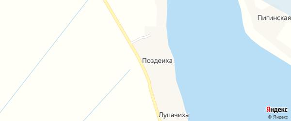 Улица Новостроек на карте деревни Поздеихи с номерами домов