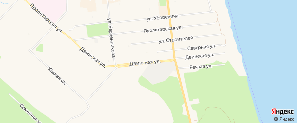 ГСК Мотор на карте Двинской улицы с номерами домов