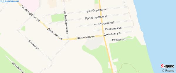 Двинской ГСК на карте Двинской улицы с номерами домов