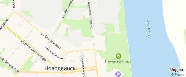 ГСК Ариадна на карте улицы Фронтовых бригад с номерами домов
