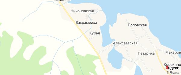 Карта деревни Вахрамеихи в Архангельской области с улицами и номерами домов