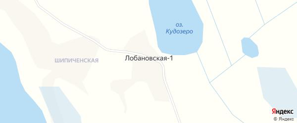 Лобановская улица на карте деревни Лобановской-1 с номерами домов