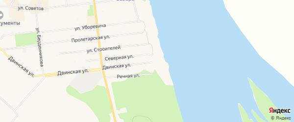ГСК Южный-2 на карте Двинской улицы с номерами домов