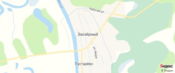 Карта Заозерного поселка в Архангельской области с улицами и номерами домов