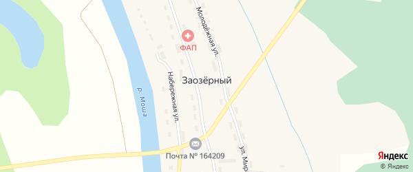 Набережная улица на карте Заозерного поселка с номерами домов