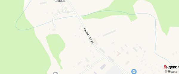 Гаражная улица на карте поселка Подюги с номерами домов
