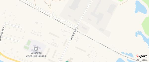 Заводская улица на карте Уемского поселка с номерами домов