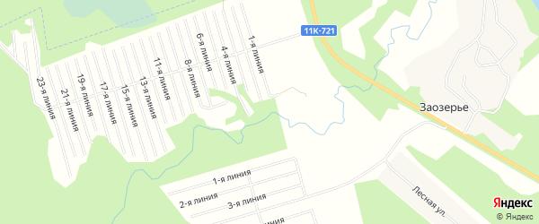 Карта территории Мечки в Архангельской области с улицами и номерами домов