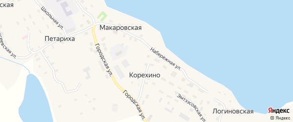 Дачная улица на карте Макаровской деревни с номерами домов