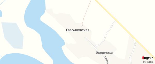 Луговая улица на карте деревни Гавриловской (Лими) с номерами домов