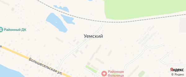Пригородная улица на карте Уемского поселка с номерами домов