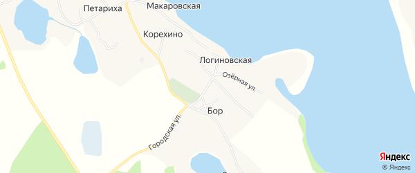 Карта деревни Корехино в Архангельской области с улицами и номерами домов