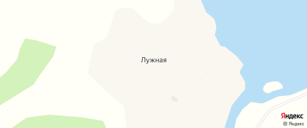 Дачная улица на карте Лужной деревни с номерами домов