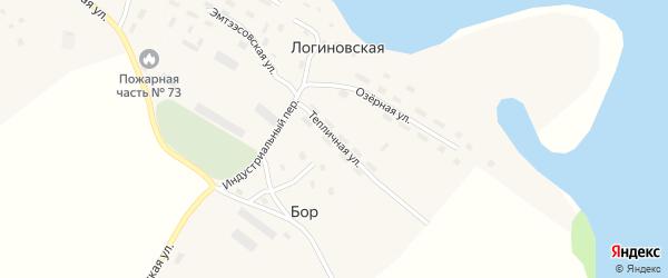 Тепличная улица на карте Логиновской деревни с номерами домов