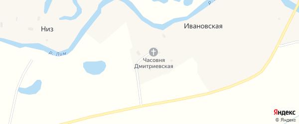 Полевой переулок на карте Ивановской деревни с номерами домов