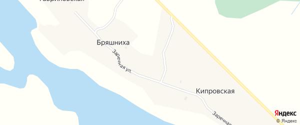 Заречная улица на карте деревни Бряшнихи с номерами домов