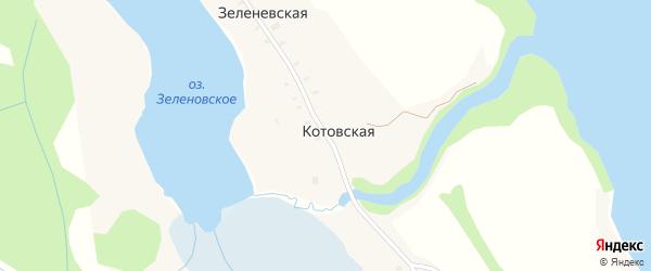 Котовская улица на карте Котовской деревни с номерами домов