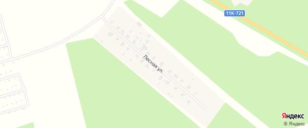 Лесная улица на карте деревни Заозерья с номерами домов