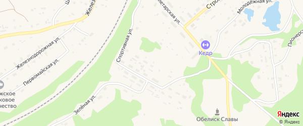 Сосновый переулок на карте поселка Подюги с номерами домов