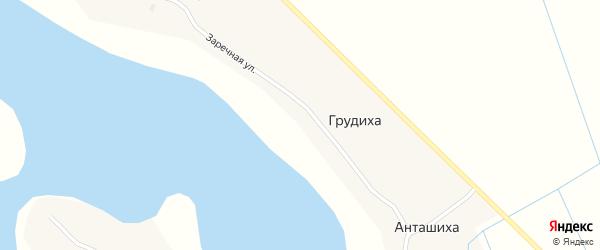 Заречная улица на карте Кипровской деревни с номерами домов
